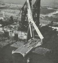 Строительство моста Эразм с рекордным разводным пролетом